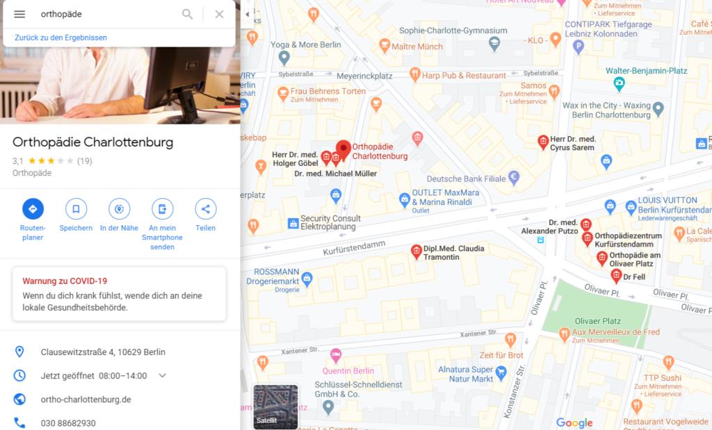 Beispiel Google My Business wie funktioniert SEO