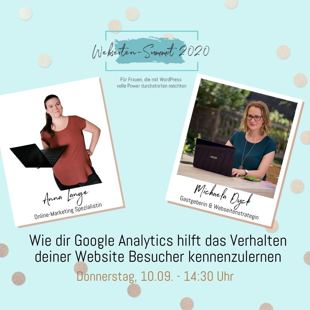Webseiten Summit 2020 Vortrag Anna Lange Google Analytics
