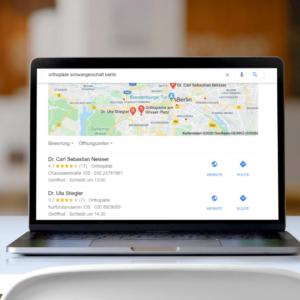 Ansicht Google Maps - SEo einfach erklärt